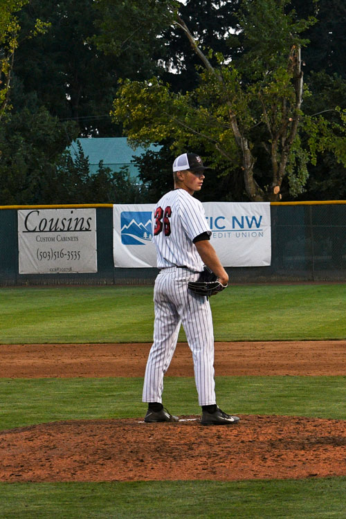 Colton on the pitching mound