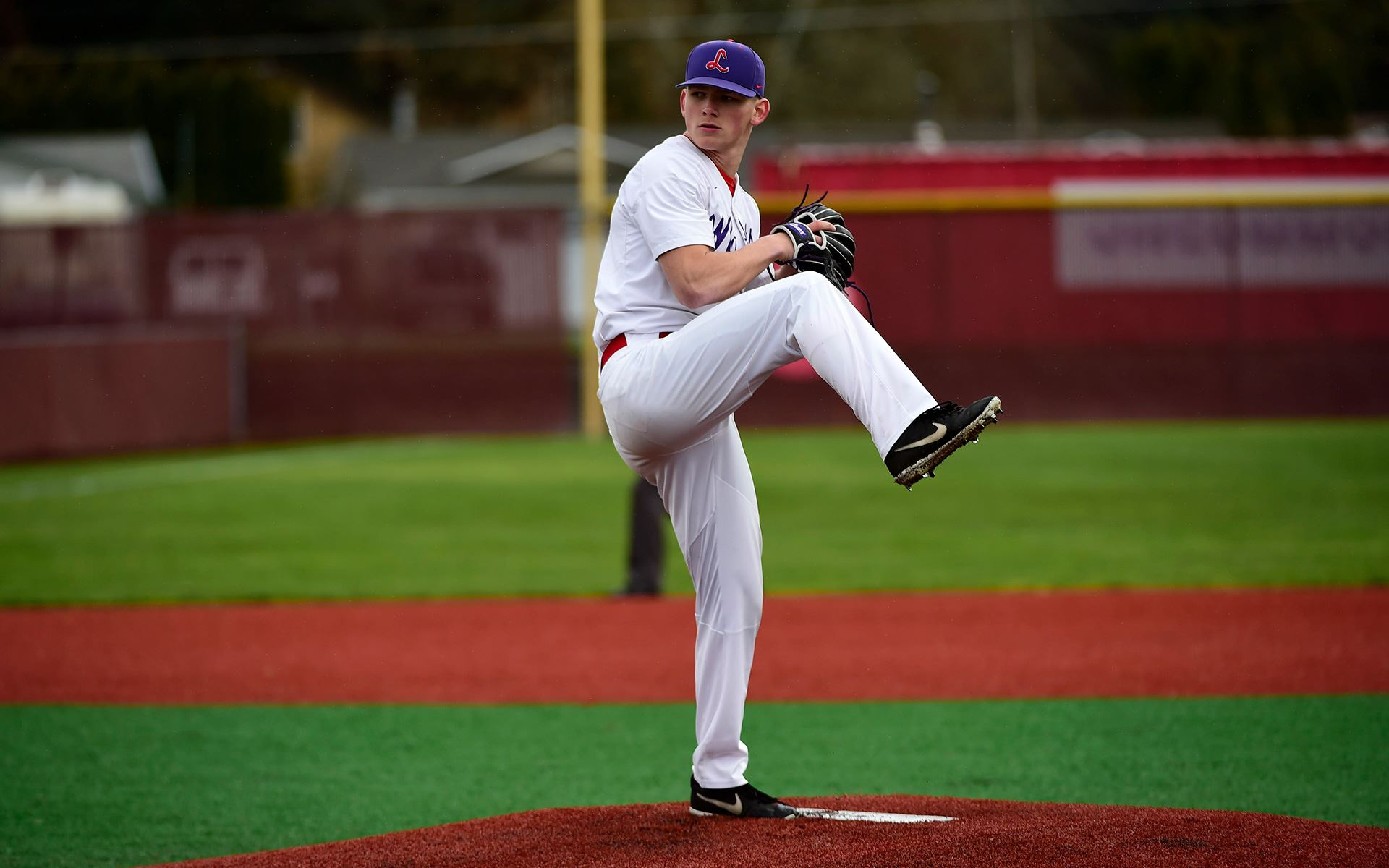 Colton pitching in a game against PLU