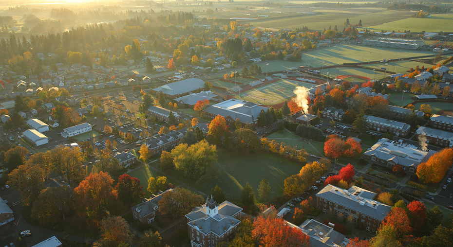 Aerial of McMinnville Campus